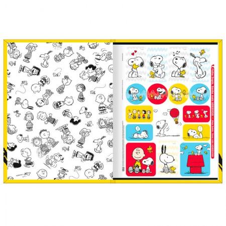 Caderno brochurão capa dura universitário 1x1 - 80 folhas - Snoopy - Capa 4 - Tilibra