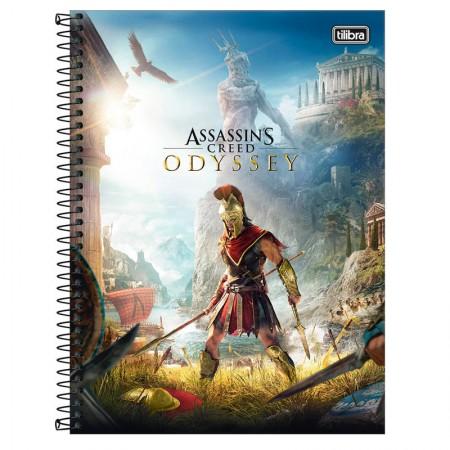 Caderno espiral capa dura universitário 1x1 - 80 folhas - Assassins Creed - Capa 2 - Tilibra