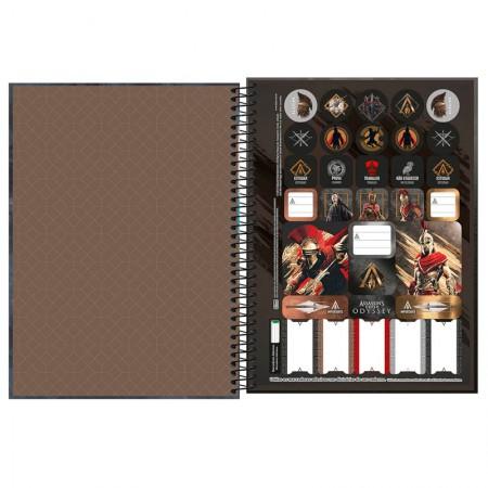 Caderno espiral capa dura universitário 1x1 - 80 folhas - Assassins Creed - Capa 3 - Tilibra