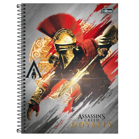 Caderno espiral capa dura universitário 1x1 - 80 folhas - Assassins Creed - Capa 4 - Tilibra