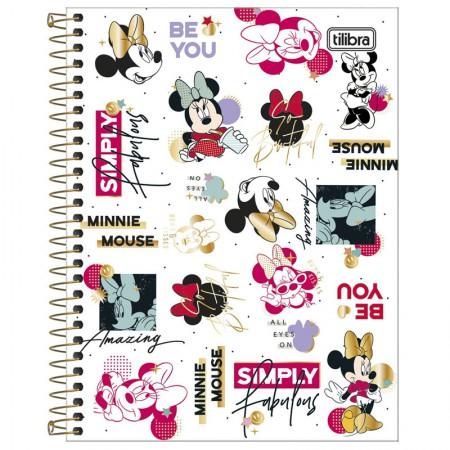 Caderno colegial capa dura 1x1 - 80 folhas - Minnie - Capa 1 - Tilibra