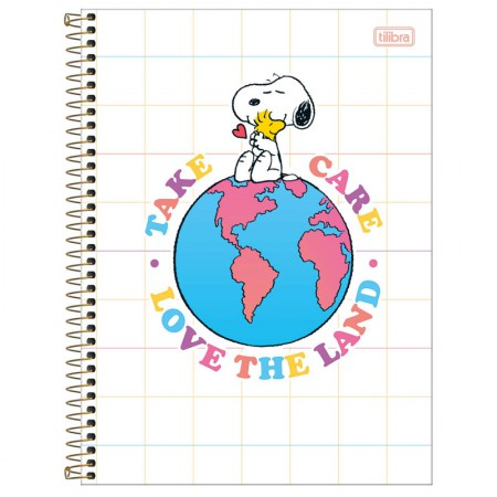 Caderno espiral capa dura universitário 10x1 - 160 folhas - Snoopy - Capa 2 - Tilibra