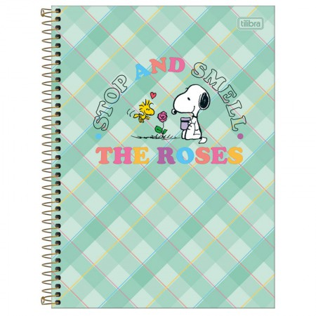 Caderno espiral capa dura universitário 10x1 - 160 folhas - Snoopy - Capa 3 - Tilibra