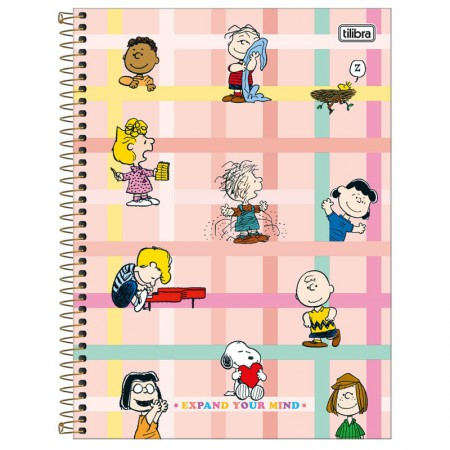 Caderno espiral capa dura universitário 10x1 - 160 folhas - Snoopy - Capa 4 - Tilibra