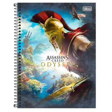 Caderno espiral capa dura universitário 10x1 - 160 folhas - Assassins Crred - Capa 1 - Tilibra