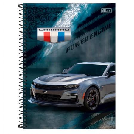 Caderno universitário capa dura 1x1 - 80 folhas - Camaro e Corvette - Capa 1 - Tilibra