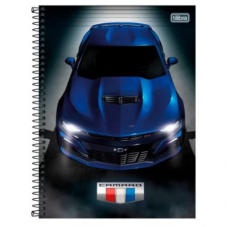 Caderno universitário capa dura 1x1 - 80 folhas - Camaro e Corvette - Capa 2 - Tilibra