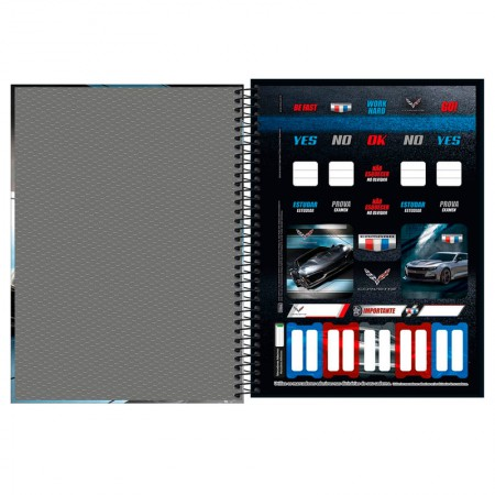 Caderno universitário capa dura 1x1 - 80 folhas - Camaro e Corvette - Capa 3 - Tilibra