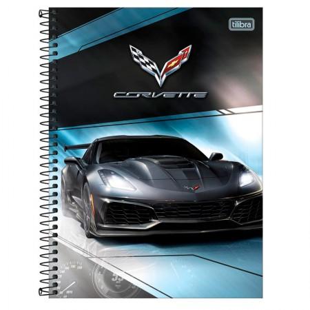 Caderno universitário capa dura 1x1 - 80 folhas - Camaro e Corvette - Capa 4 - Tilibra
