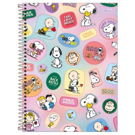 Caderno espiral capa dura universitário 1x1 - 80 folhas - Snoopy - Capa 1 - Tilibra
