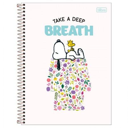 Caderno espiral capa dura universitário 1x1 - 80 folhas - Snoopy - Capa 2 - Tilibra