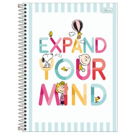 Caderno espiral capa dura universitário 1x1 - 80 folhas - Snoopy - Capa 3 - Tilibra