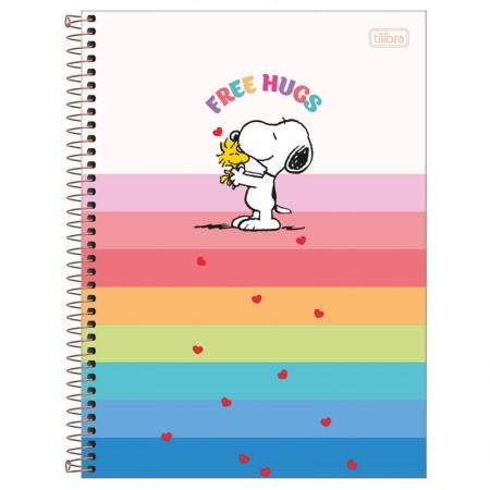 Caderno espiral capa dura universitário 1x1 - 80 folhas - Snoopy - Capa 4 - Tilibra