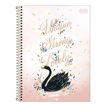 Caderno espiral capa dura universitário 1x1 - 80 folhas - Royal Cisne - Capa 4 - Tilibra