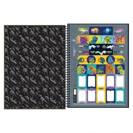 Caderno espiral capa dura universitário 1x1 - 80 folhas - Raptor - Capa 2 - Tilibra