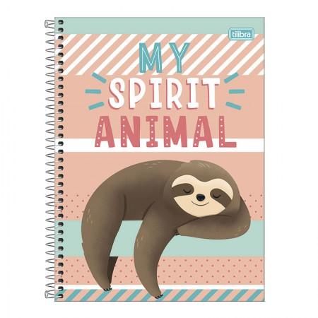 Caderno espiral capa dura universitário 1x1 - 80 folhas - Nap Nap Preguiça - Capa 1 - Tilibra
