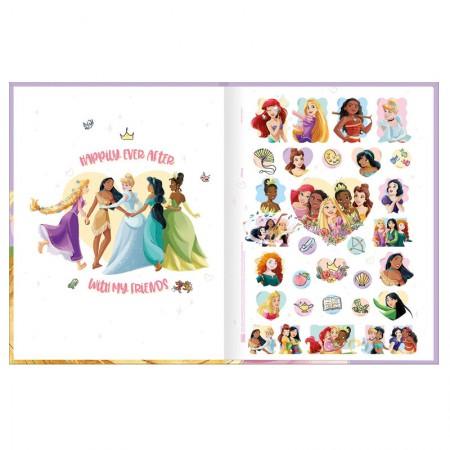 Caderno brochurão capa dura universitário 1x1 - 80 folhas - Princesas - Bela - Tilibra