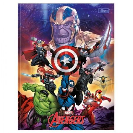 Caderno brochurão capa dura universitario 1x1 - 80 folhas - Os Vingadores - Capa 2 - Tilibra