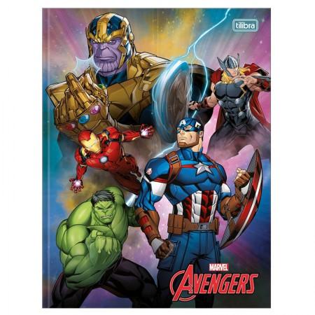 Caderno brochurão capa dura universitario 1x1 - 80 folhas - Os Vingadores - Capa 3 - Tilibra
