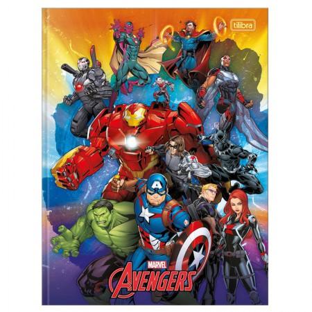 Caderno brochurão capa dura universitario 1x1 - 80 folhas - Os Vingadores - Capa 4 - Tilibra