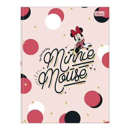 Caderno brochurão capa dura universitário 1x1 - 80 folhas - Minnie - Capa 1 - Tilibra