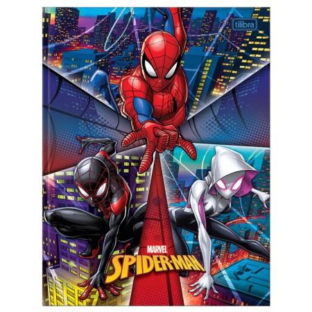 Caderno brochurão capa dura universitário 1x1 - 80 folhas - Homem Aranha - Capa 1 - Tilibra