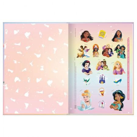 Caderno brochura capa dura 1/4 - 80 folhas - Princesas - Ariel - Tilibra
