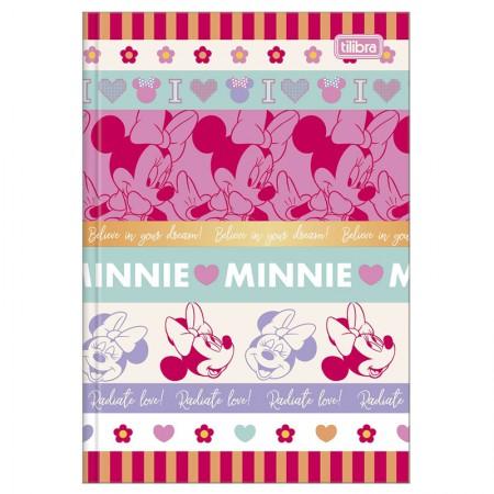 Caderno brochura capa dura 1/4 - 80 folhas - Minnie - Capa 1 - Tilibra