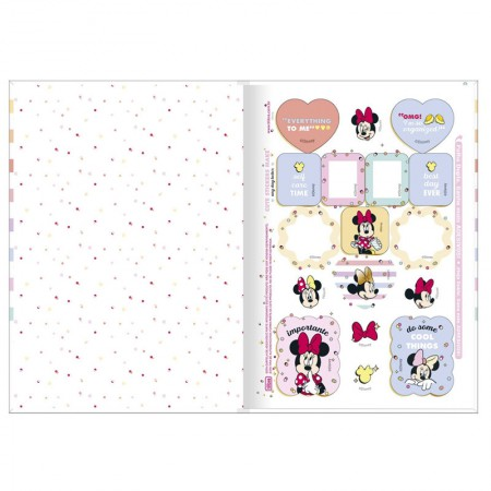 Caderno brochura capa dura 1/4 - 80 folhas - Minnie - Capa 2 - Tilibra