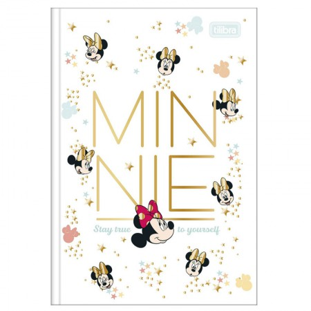 Caderno brochura capa dura 1/4 - 80 folhas - Minnie - Capa 3 - Tilibra