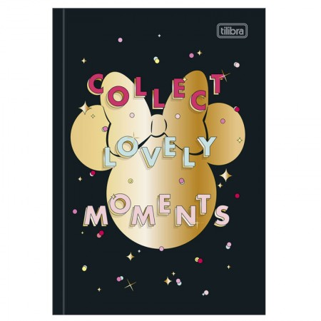 Caderno brochura capa dura 1/4 - 80 folhas - Minnie - Capa 4 - Tilibra