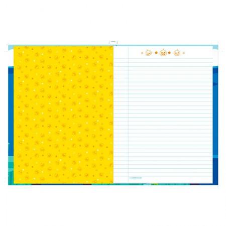 Caderno brochurão capa dura universitário 1x1 - 96 folhas - Baby Shark - Capa 2 - Foroni