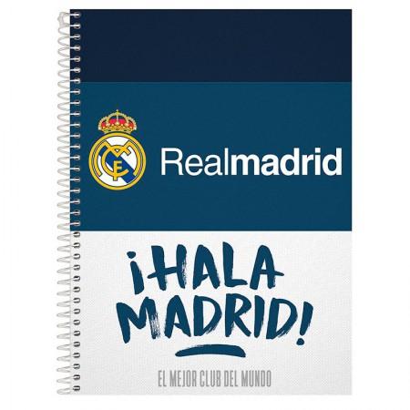 Caderno espiral capa dura universitário 1x1 - 96 folhas - Real Madrid - Capa 3 - Foroni