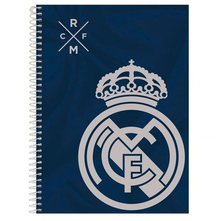 Caderno espiral capa dura universitário 1x1 - 96 folhas - Real Madrid - Capa 4 - Foroni