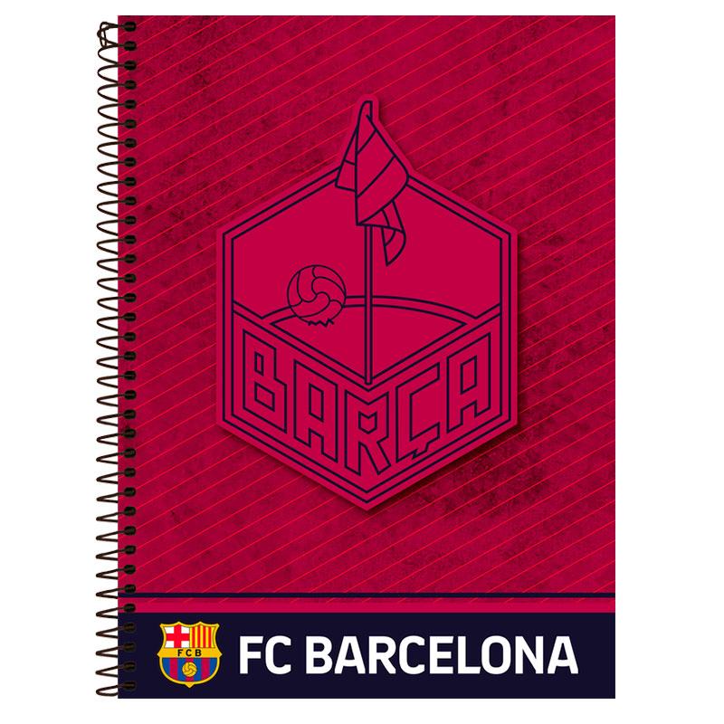 Caderno espiral capa dura universitário 1x1 - 96 folhas - Barcelona - Capa 4 - Foroni