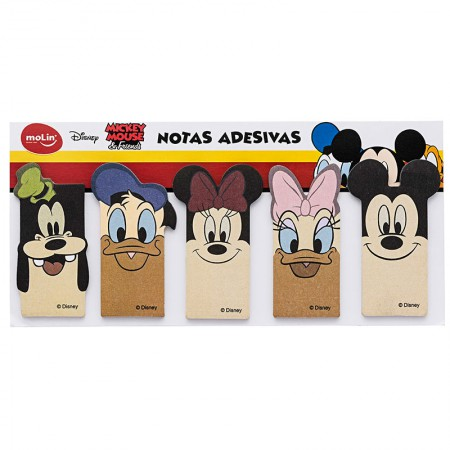 Marcador de páginas com 5 peças de 25 folhas - Mickey - Molin