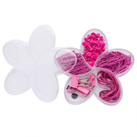 Kit clips e prendedor para papel pink set - 23114 - Molin