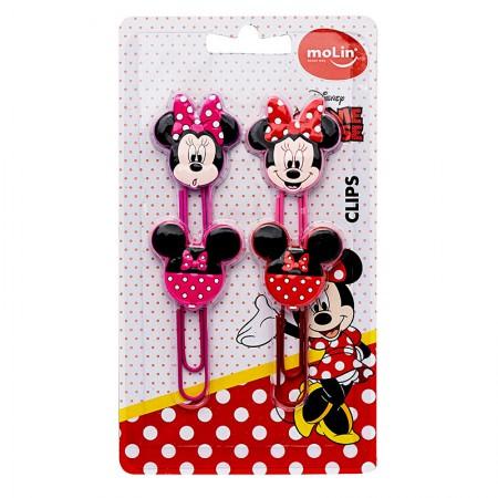 Clips especial Minnie - com 4 unidades - 22396 - Molin