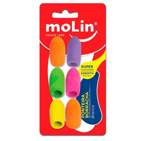 Borracha ponteira Neon - com 6 unidades - 14207 - Molin