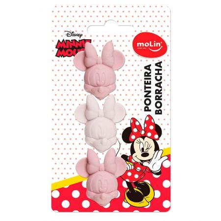 Borracha ponteira Minnie - com 3 unidades - 22367 - Molin
