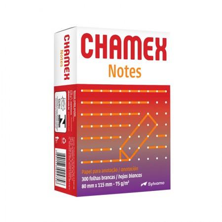 Bloco de anotações sem pauta Notes -  80mmx115mm - com 300 folhas - Chamex