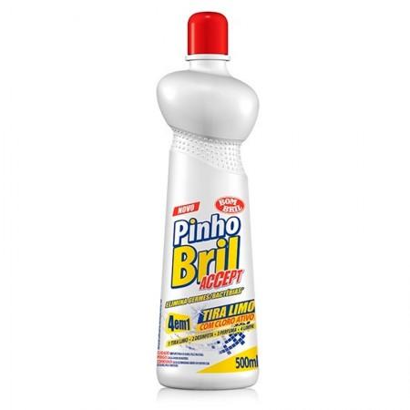 Limpador tira limo Pinho Bril 4 em 1 cloro ativo 500ml - Bombril