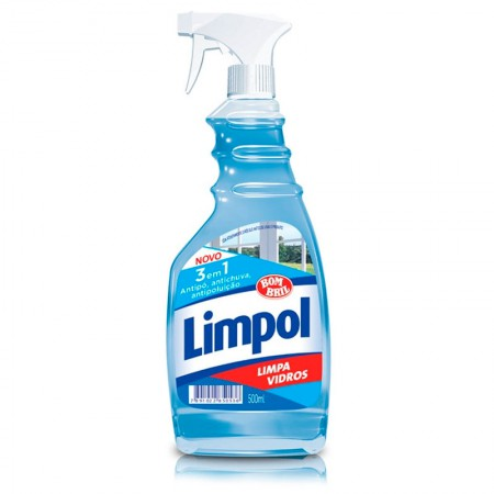 Limpa vidros Limpol 3 em 1 gatilho 500ml - Bombril