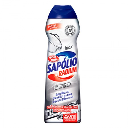 Sapólio Radium limpa inox 250ml - Bombril