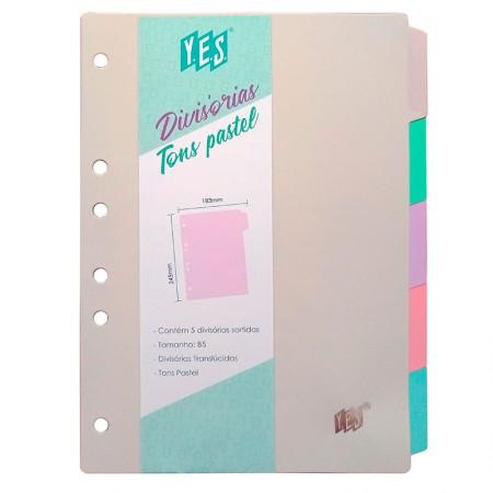 Divisória colorida colegial - 5 projeções - 5TBCS - Yes