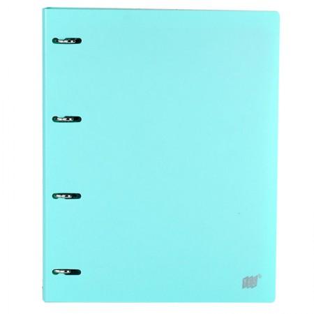Fichário universitário com 4 argolas - Azul Pastel - R4EABC/AZ - Yes