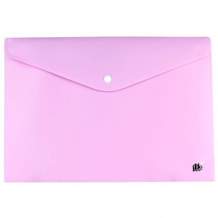 Envelope plástico com botão Ofício - DB803ABC/LL - Lilás Pastel - Yes