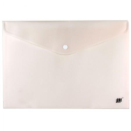 Envelope plástico com botão Ofício - DB803ABC/BG - Bege Pastel - Yes