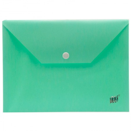 Envelope plástico com botão A5 - DB801BC/VD - Verde Pastel - Yes