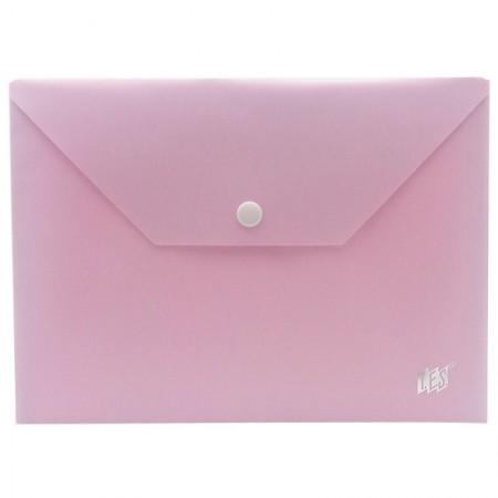 Envelope plástico com botão A5 - DB801BC/LL - Lilás Pastel - Yes